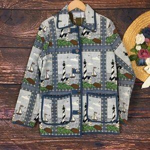 Vintage 90's tapestry woven novelty jacket